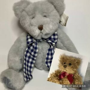 Russ Berrie And Co Lyndon Teddy Grey With Original Tag And Freebie