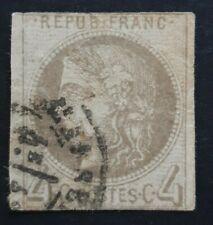 1870 1871 Ceres Bordeaux Y&T 41A 4 centimes report 1 côte 4000€