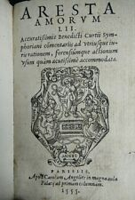 MARTIAL D'AUVERGNE ARESTA AMORUM Charles Angelier, Georges Andrieux 1555 's