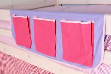 Childrens Bed Pocket Tidy - Pink / Lilac - Free Delivery