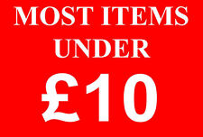 Most Items Under £10 Pounds Sale Sign Rail Card Retail Shop Display-High Quality