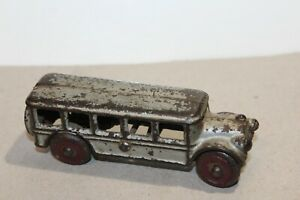VINTAGE A.C. WILLIAMS CAST IRON 1920'S SILVER FAGEOL BUS #2