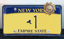 Personalize your License plate to be Lucky 1 Car shield w.Supporter Card-FOP-PBA