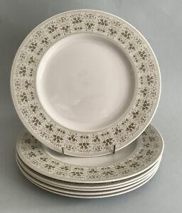 "Royal Doulton Samarra  T.C. 1039 10 1/2"" Dinner Plates - Set Of 6"