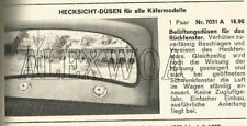 RARE VW ACCESSORY AIR INTAKES GHE PEROHAUS KDF VOLKSWAGEN BUG BEETLE 1200