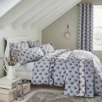 Catherine Lansfield Vintage Floral Blue Single Duvet Cover Set or Curtains