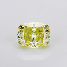 Elongated Cushion 8x10mm Crushed Ice Cut Canary Yellow Color Moissanite Stone