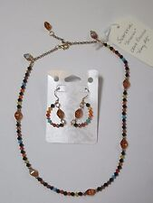 and Earring Set Sonoran-themed Crystal Necklace
