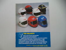 advertising Pubblicità 1985 CASCHI YES HELMETS ENDURO CROSS STRADA