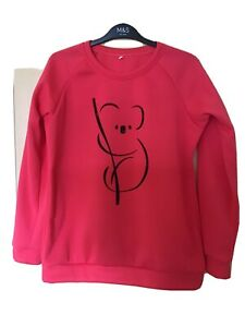 Ladies' Sweatshirt, Red, Size Medium