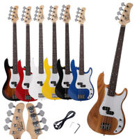 New 7 Color Burning Fire White 4 Strings Practice Student Electric Bass Guitar