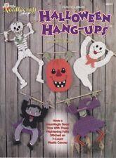 Halloween Hang-Ups Plastic Canvas Skeleton Witch Pumpkin Ghost Dracula Decor Oop
