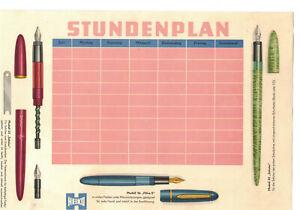 Heiko Füller Schulstundenplan DDR Stundenplan Reklame um 1960 ! (D7