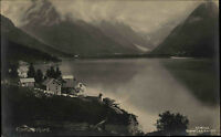 Fjærlandsfjord Norwegen Norge ~1920/30 Blick auf den Fjord Panorama Norway-AK