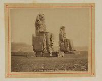 Egitto Tebe Piccolo Stampa Di Bonfils Vintage Albumina Ca 1880