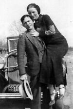 5x7 Photo Bonnie Parker and Clyde Barrow Depression-era Outlaws