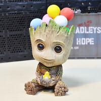 Avengers Cute Baby Groot Figure Flowerpot Style Pen Pot Desk Toy Gift Decor New