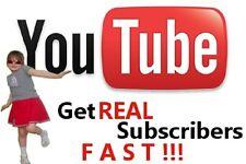 Real 65 USA/UK YT Video Subscribers Video Marketing Social Media Marketing