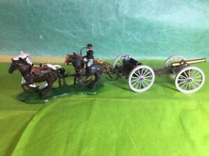 Britains swoppet ACW Union, gun team and limber and cannon, very clean, no box