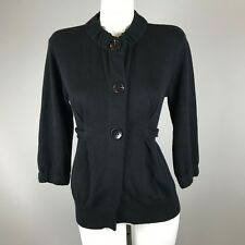 Vince Womens Button Front Belted Cardigan Size Small Cotton Cashmere Blend