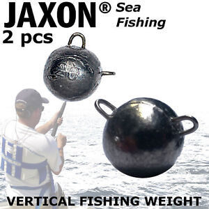 Lure Fishing round Vertical Weight 25g or 30g 2 pcs Ball weight with two snaps