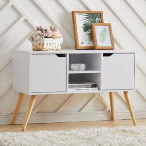 Modern TV Unit Cabinet Storage Cupboard Side Table Wooden Living Room Furniture