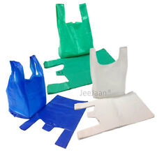 More details for large white / blue / green plastic vest carrier bags 11