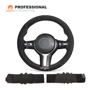Car Steering Wheel Cover Black Suede for BMW F22 F30 F32 F12 M2 M3 M4 M5 M6 X3