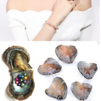 10Pcs Akoya Pearl Oysters With Real Pearl 6-8mm Freshwater Vacuum Packaging