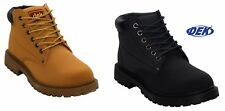 NEW MENS GENTS CASUAL LACE UP HIKING WALKING WORK ANKLE BOOTS SHOES SIZE UK 6-12