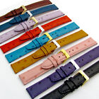 Genuine Leather Watch Strap Band Ostrich Grain 9 Colours 16mm 18mm 20mm Pins inc