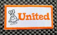 "UNITED ~ BAKERY EMBROIDERED SEW ON PATCH UNIFORM  3 1/2"" x  1 7/8"""