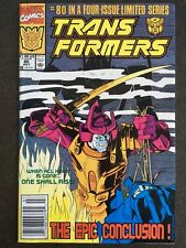 TRANSFORMERS #80 NEWSSTAND MARVEL SHARP GLOSSY HIGH GRADE LAST ISSUE LOW PRINT