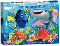 Disney Finding Dory Shaped 'Bumper Pack' 10 12 14 16 Piece 4 Jigsaw Puzzle Game