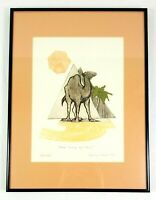 "Nancy Nemec Signed Limited Edition ""One lump or two?"" Camel Pyramid Print 1982"