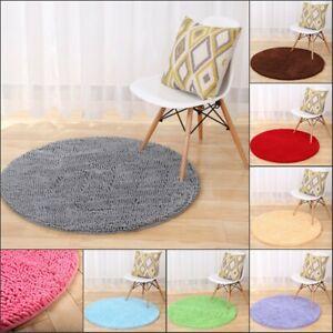 Round Chenille Soft Bathroom Shower Bath Mat Rug Floor mat Home Decor Door Mat