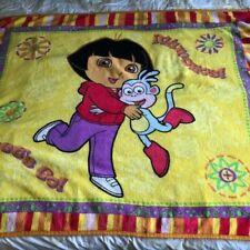 """Dora the Explorer Fleece Big Soft Blanket 40""""x 52"""" Genuine Nickelodeon"""