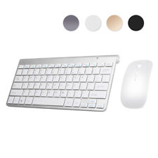 Slim Wireless Keyboard and Mouse Set 2.4Ghz Usb for Laptop Mac Apple Pc Computer