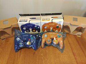 2 Boxed Official Nintendo Gamecube Controller Violet Spice Orange