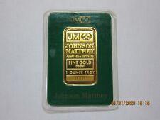 1 oz Johnson Matthey Gold Bar .9999 Fine (In assay card)