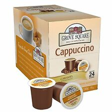 Grove Square Caramel Cappuccino 24 Single Serve Cup Keurig K-cups