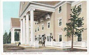 Haynes Yellowstone Lake Hotel Entrance Close 1930 National Parks