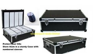 1000 Neo DJ Aluminium Flight Carry Case Box Number Sleeve CD Storage Black Color