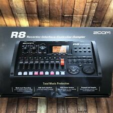 Zoom R8 Multi Track Recorder Audio Interface Black 2tr simultaneous recording