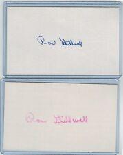 (2) RON STILLWELL INDEX CARD SIGNED 1961-62 SENATORS PSA/DNA CERTIFIED 1939-2016