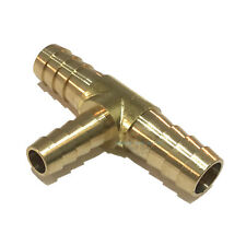 1/2  X 3/8  HOSE BARB TEE Brass Pipe 3 WAY T Fitting Thread Gas Fuel Water Air