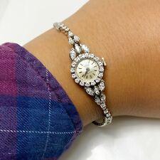 Opulent Vintage Ladies Rolex Diamond 18k White Gold Watch (7770)