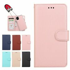 For iPhone 12 11 Pro XS 8 Flip Leather Magnetic Back Removable Wallet Case Cover