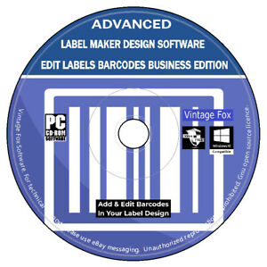 Advanced Label Maker Create Design Labels Barcodes Business Edition CD Rom PC