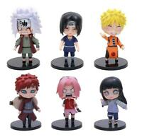Naruto happy set 6pcs PVC figure figures doll toy dolls model
